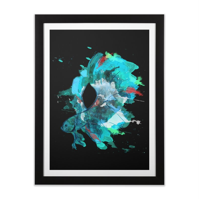 Mr. Betta Home Framed Fine Art Print by The Hidden Squid