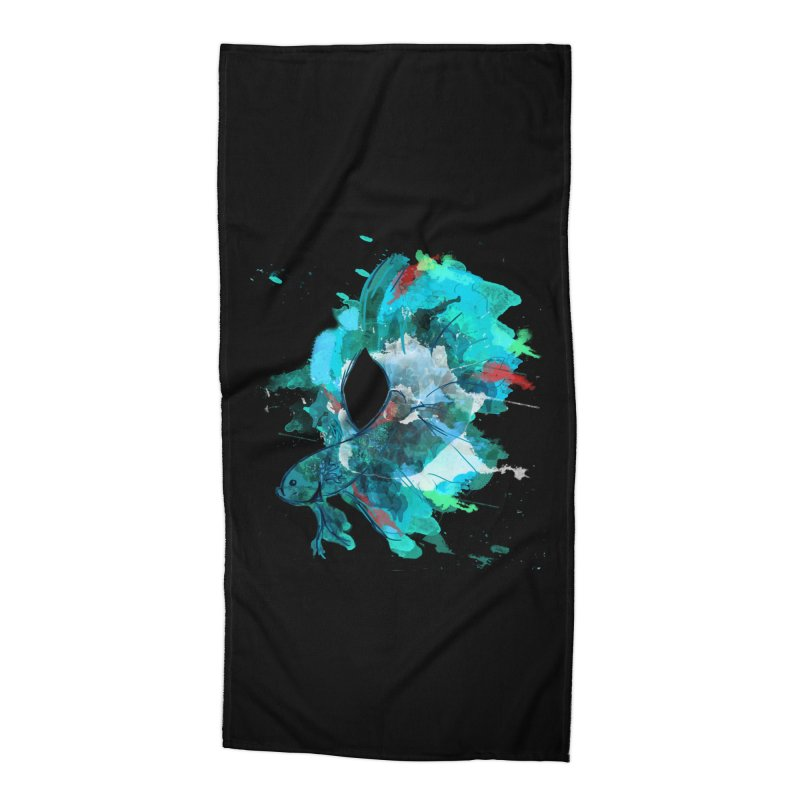 Mr. Betta Accessories Beach Towel by The Hidden Squid