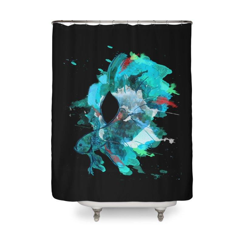 Mr. Betta Home Shower Curtain by The Hidden Squid