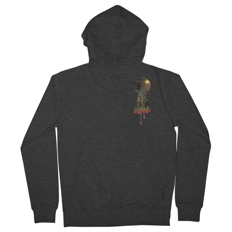 Keyhole Pocket Men's French Terry Zip-Up Hoody by The Hidden Staircase's Artist Shop