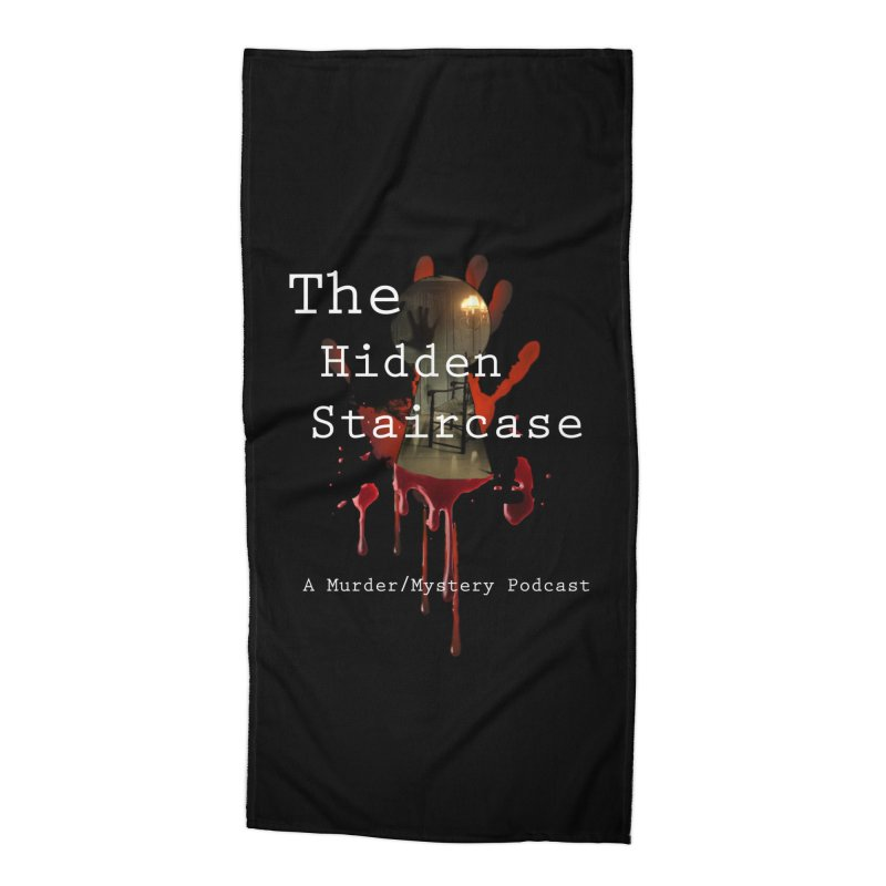 Bloody Logo Accessories Beach Towel by The Hidden Staircase's Artist Shop