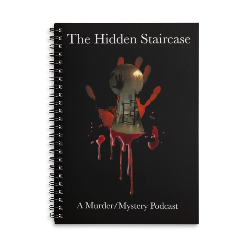 Bloody Logo Accessories Lined Spiral Notebook by The Hidden Staircase's Artist Shop