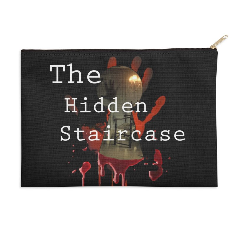 Bloody Logo Accessories Zip Pouch by The Hidden Staircase's Artist Shop