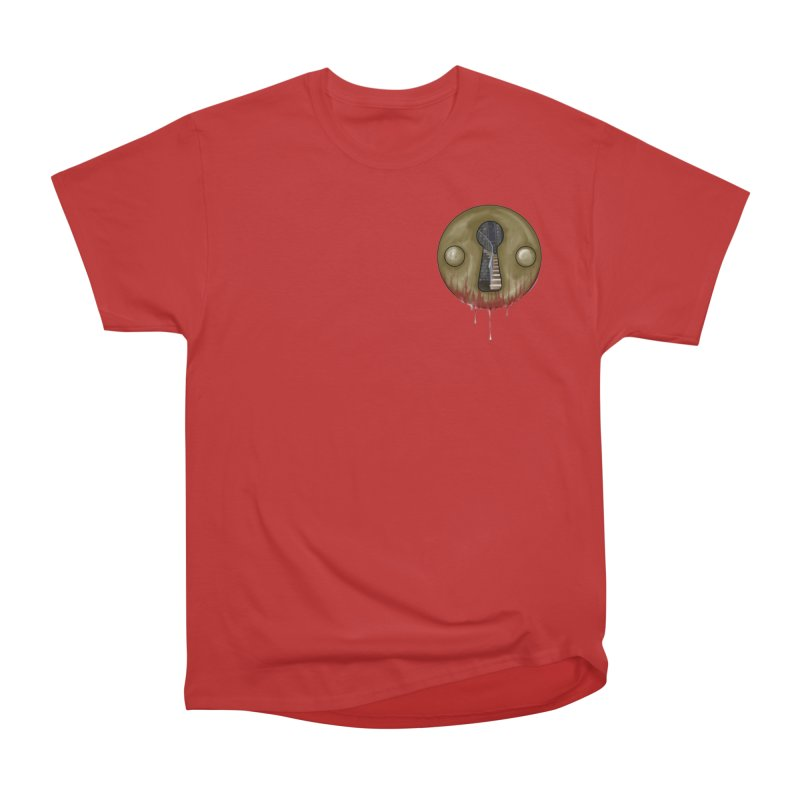 Hidden Lock Pocket Men's Heavyweight T-Shirt by The Hidden Staircase's Artist Shop