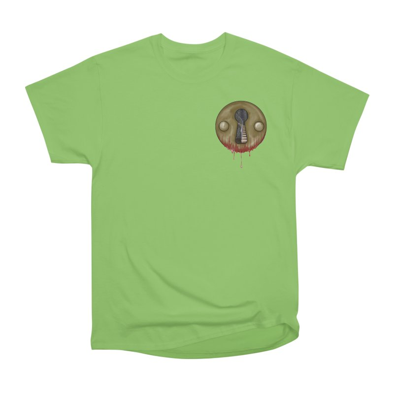 Hidden Lock Pocket Men's Heavyweight T-Shirt by The Hidden Staircase's Artist Shop
