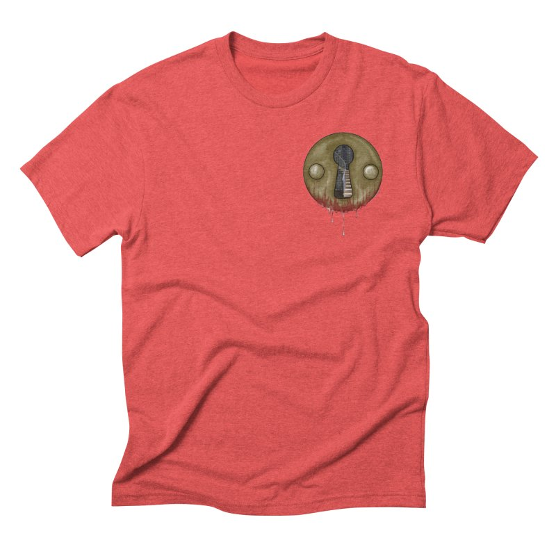 Hidden Lock Pocket Men's Triblend T-Shirt by The Hidden Staircase's Artist Shop