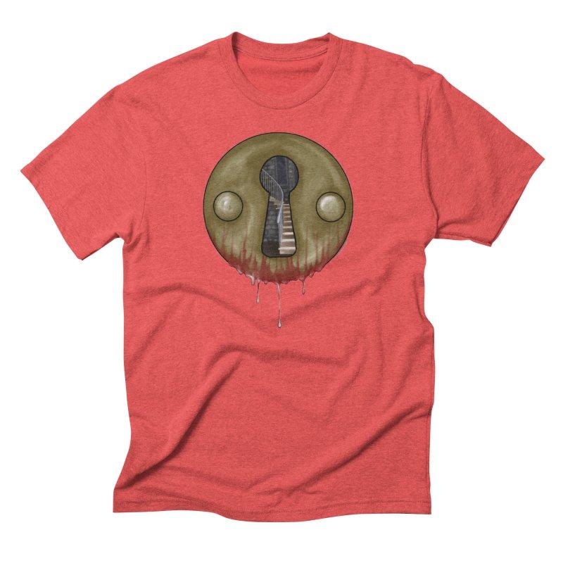 Hidden Lock Men's Triblend T-Shirt by The Hidden Staircase's Artist Shop