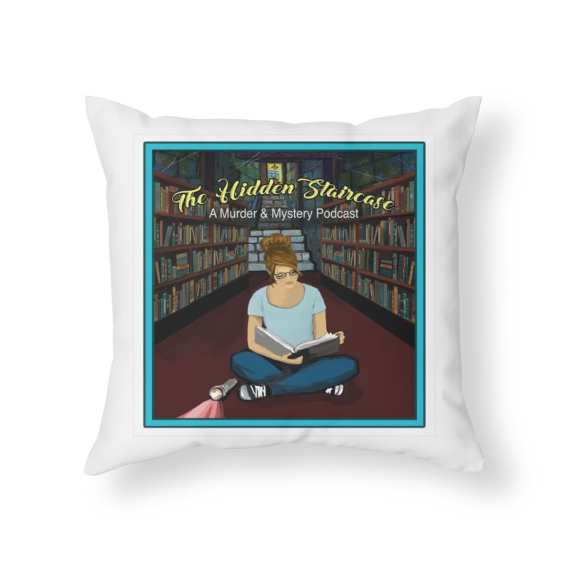Reading Logo Home Throw Pillow by The Hidden Staircase's Artist Shop