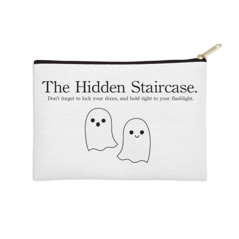 Hidden Staircase Tagline With Ghosts Accessories Zip Pouch by The Hidden Staircase's Artist Shop