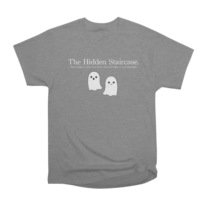 Hidden Staircase Tagline with Ghosts White lettering Men's T-Shirt by The Hidden Staircase's Artist Shop