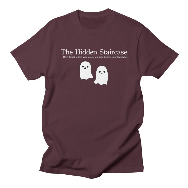 Hidden Staircase Tagline with Ghosts White lettering Men's Regular T-Shirt by The Hidden Staircase's Artist Shop