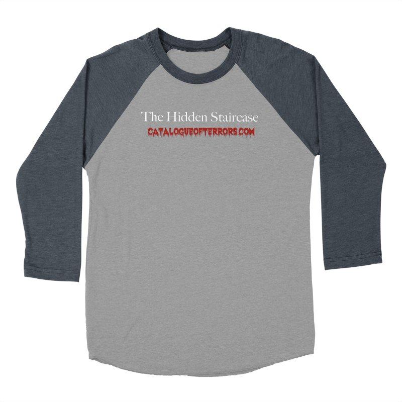 Catalogue of Terrors Website Men's Baseball Triblend Longsleeve T-Shirt by The Hidden Staircase's Artist Shop