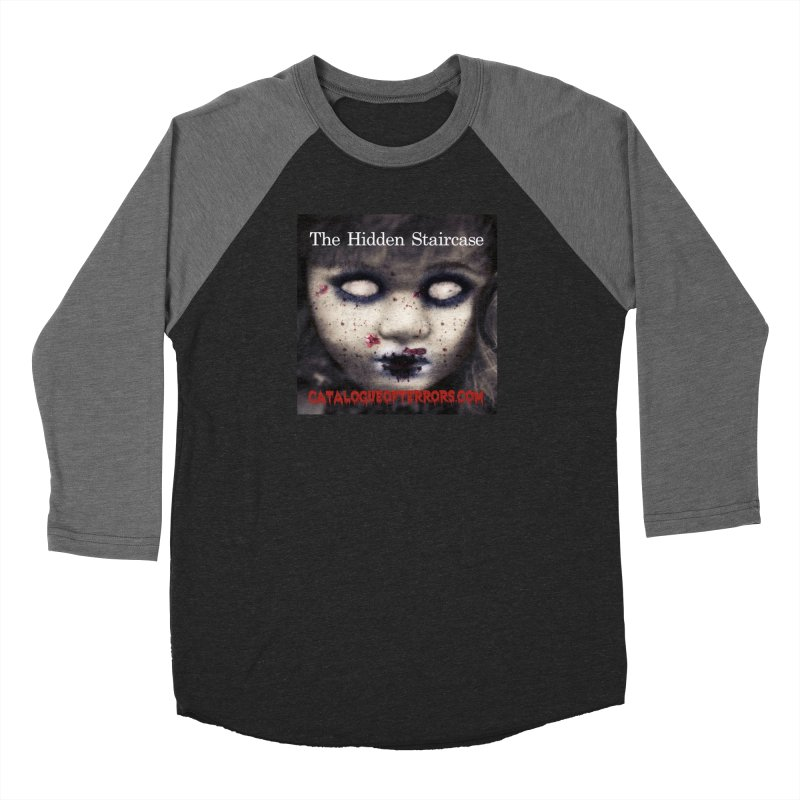 Catalogue of Terrors Artwork Men's Baseball Triblend Longsleeve T-Shirt by The Hidden Staircase's Artist Shop