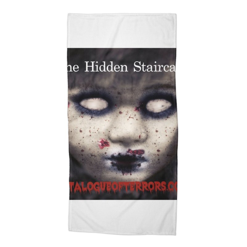 Catalogue of Terrors Artwork Accessories Beach Towel by The Hidden Staircase's Artist Shop
