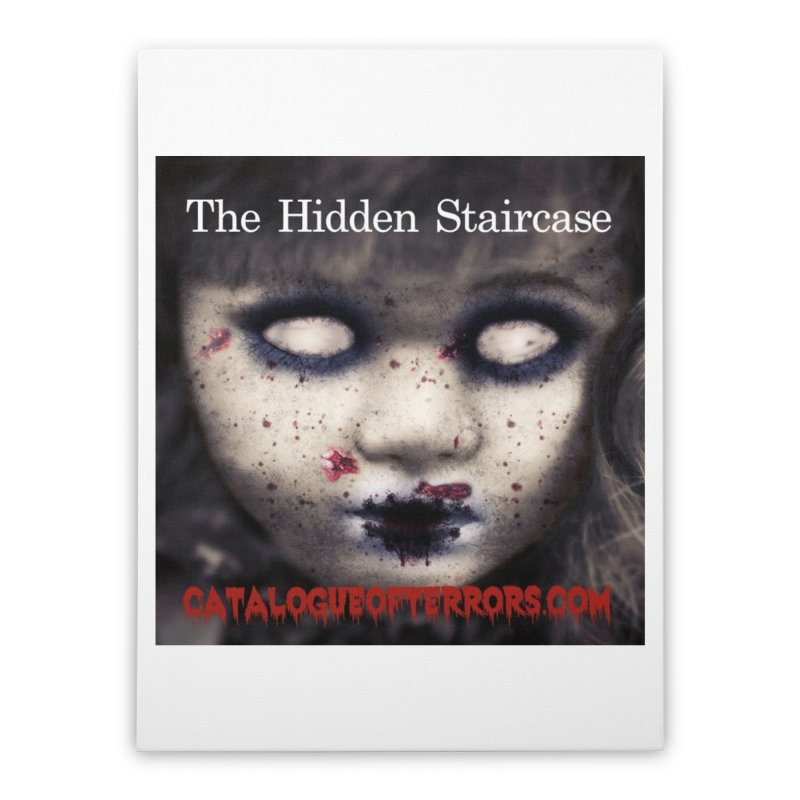 Catalogue of Terrors Artwork Home Stretched Canvas by The Hidden Staircase's Artist Shop