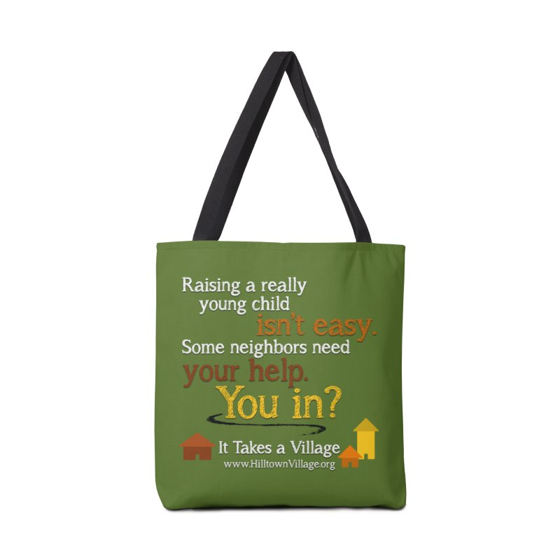 You In? (Green) Accessories Bag by It Takes a Village's Shop
