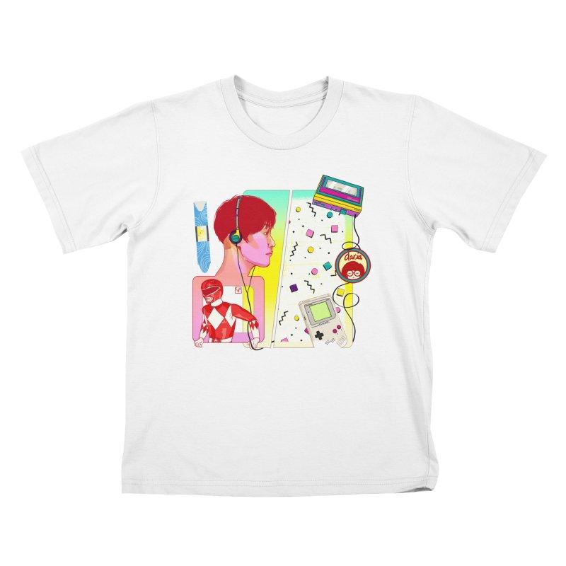 Retro Kids T-Shirt by Hoarse's Artist Shop