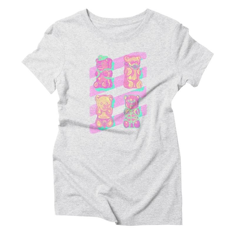 gummy bears Women's T-Shirt by Hoarse's Artist Shop