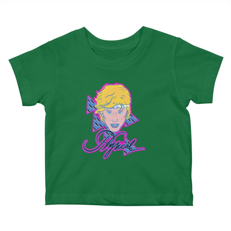 Let's get physical Kids Baby T-Shirt by Hoarse's Artist Shop