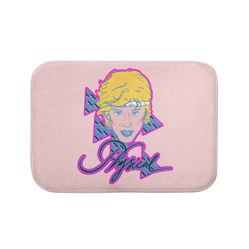 Let's get physical Home Bath Mat by Hoarse's Artist Shop