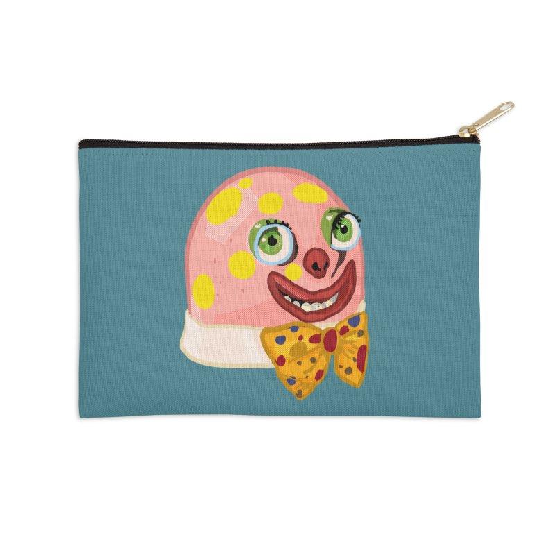 Mr. Blobby Accessories Zip Pouch by Hoarse's Artist Shop