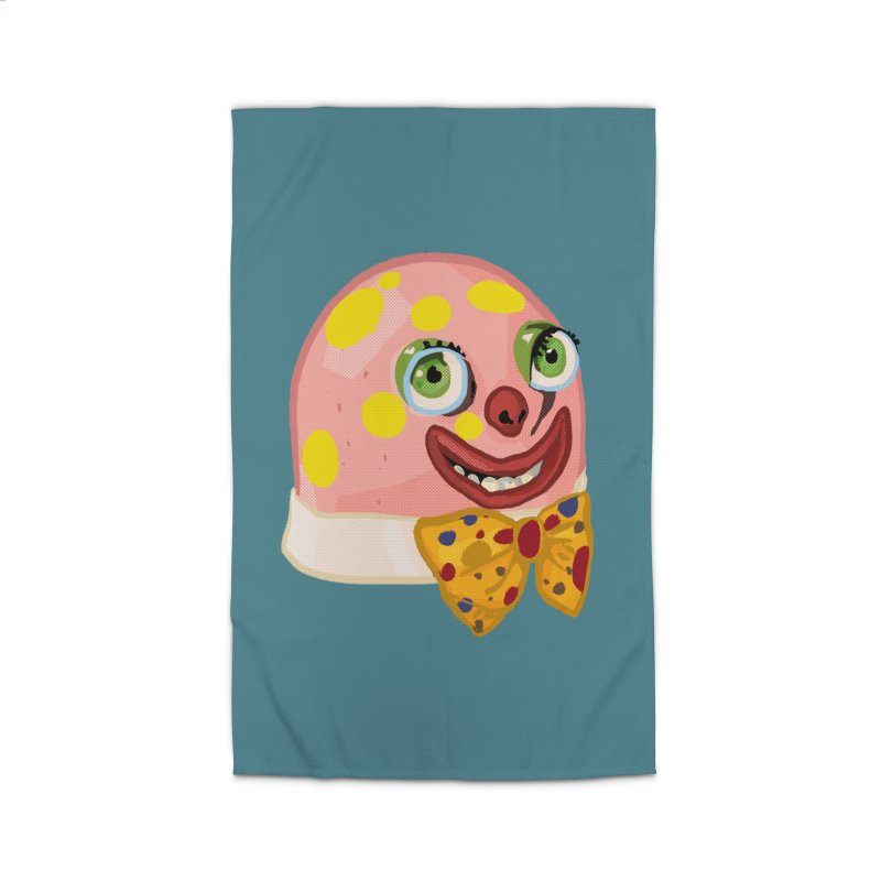 Mr. Blobby Home Rug by Hoarse's Artist Shop