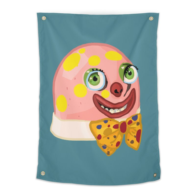 Mr. Blobby Home Tapestry by Hoarse's Artist Shop