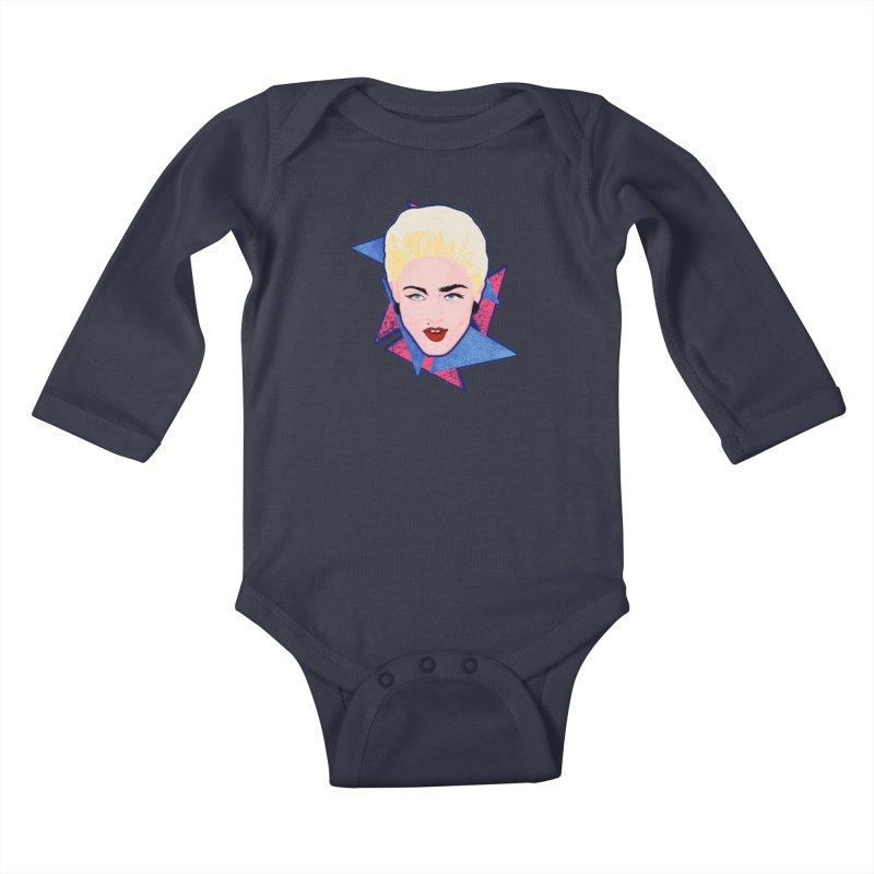 Madonna Kids Baby Longsleeve Bodysuit by Hoarse's Artist Shop