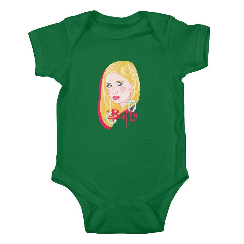 Buffy Kids Baby Bodysuit by Hoarse's Artist Shop