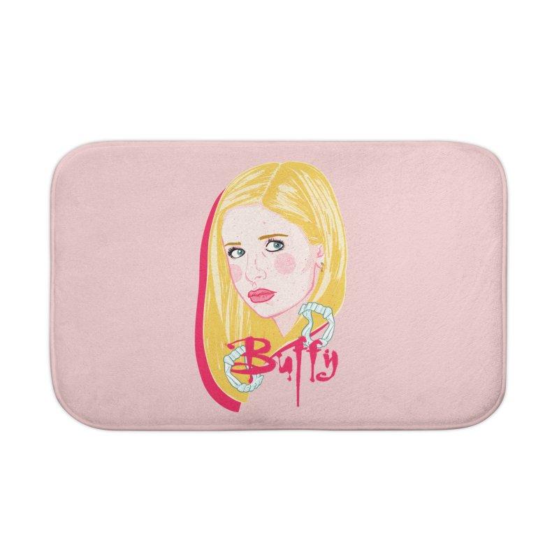 Buffy Home Bath Mat by Hoarse's Artist Shop