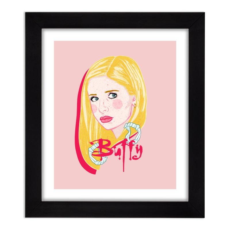 Buffy Home Framed Fine Art Print by Hoarse's Artist Shop