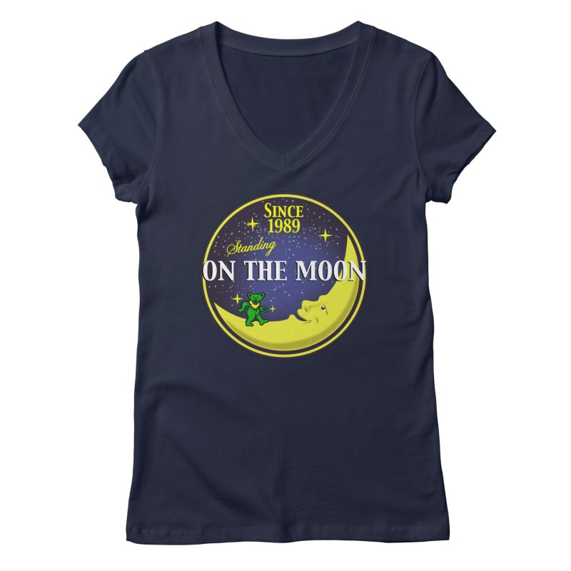 Standing On The Moon Pie Women's V-Neck by Troffman's Artist Shop