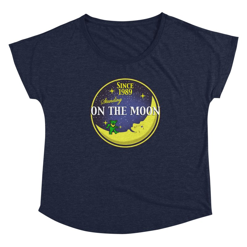 Standing On The Moon Pie Women's Scoop Neck by Troffman's Artist Shop