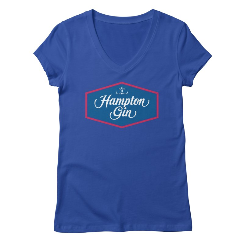Hampton Gin Women's V-Neck by Troffman's Artist Shop