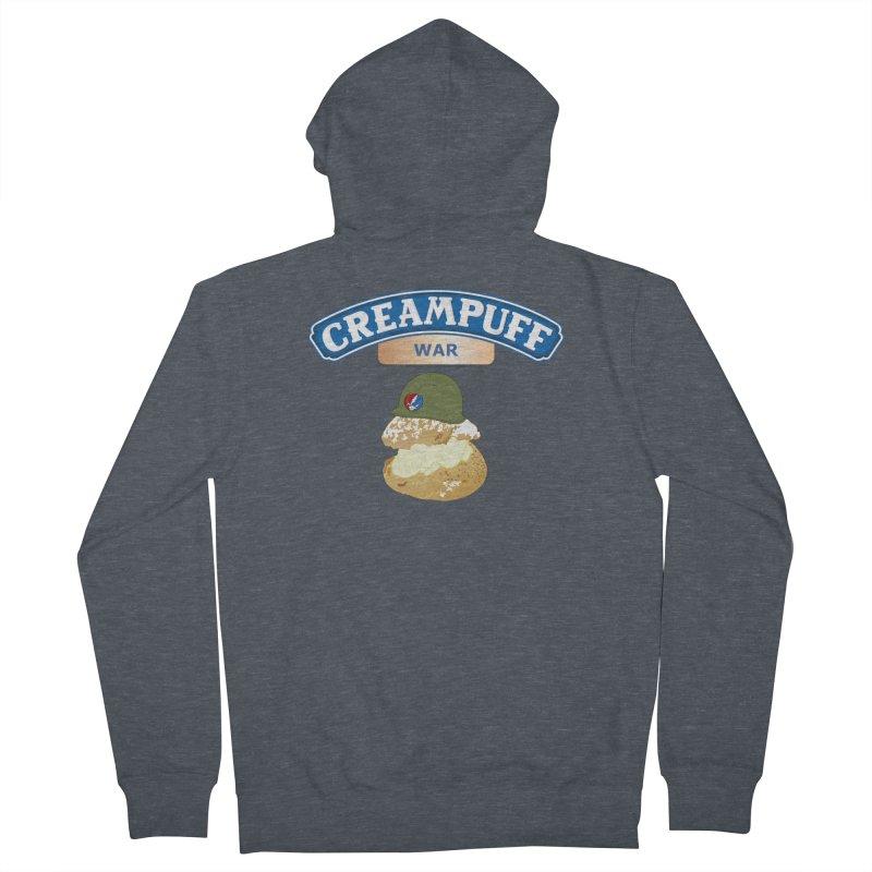 Cream Puff War Men's Zip-Up Hoody by Troffman's Artist Shop