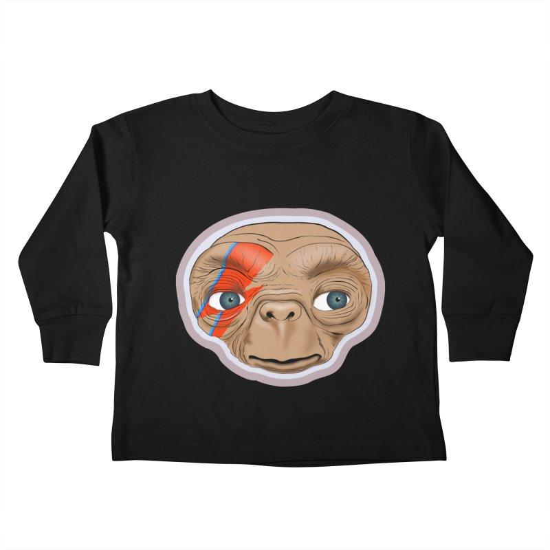 Space Invader Kids Toddler Longsleeve T-Shirt by Troffman's Artist Shop