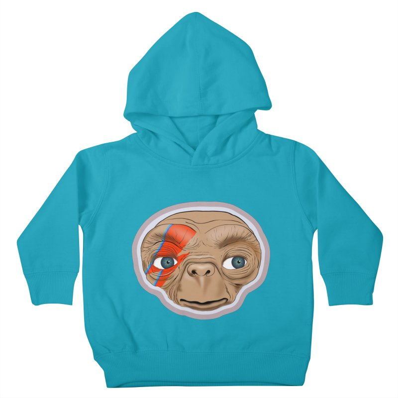 Space Invader Kids Toddler Pullover Hoody by Troffman's Artist Shop