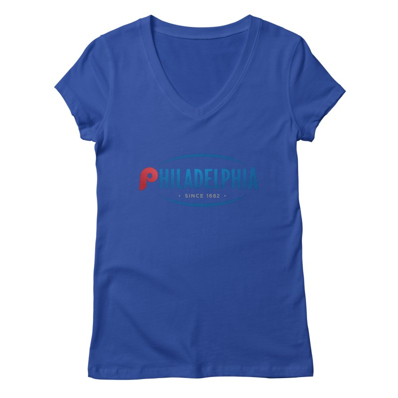 Philly Pride Women's V-Neck by Troffman's Artist Shop