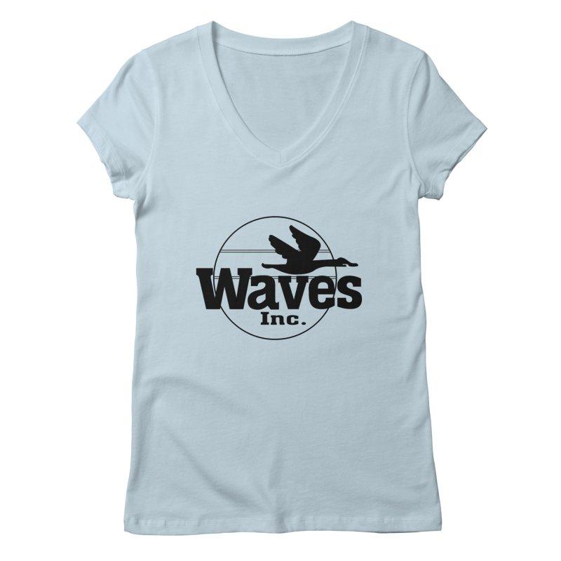 Waves Women's V-Neck by Troffman's Artist Shop