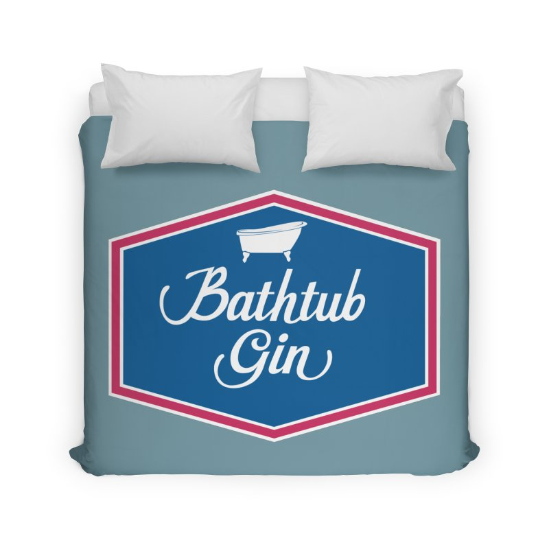 Bathtub Gin Home Duvet by Troffman's Artist Shop