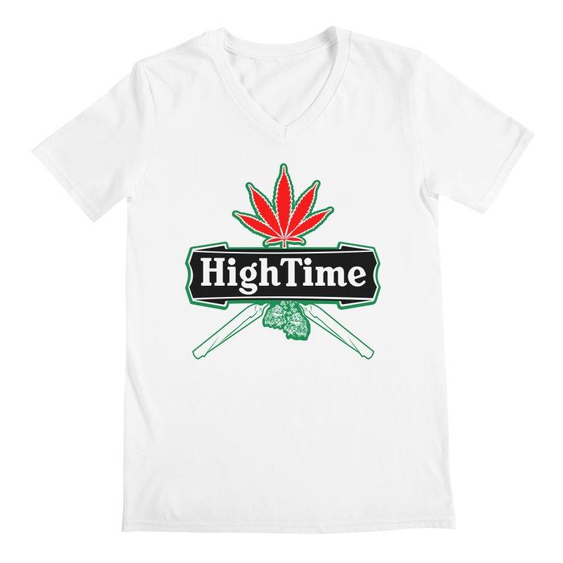 High Time Men's V-Neck by Troffman's Artist Shop