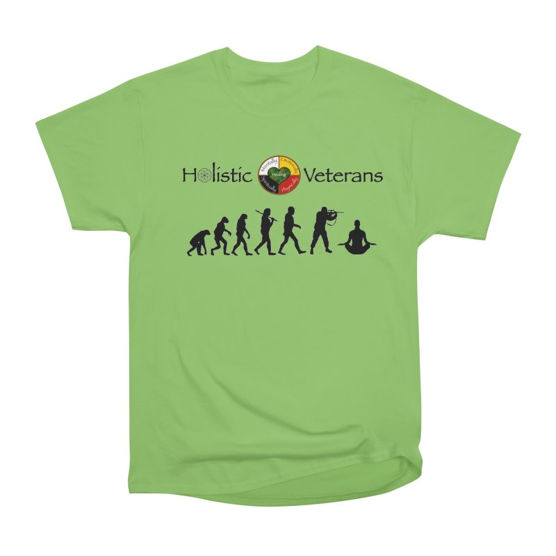 HV Logo Men's Heavyweight T-Shirt by HolisticVeterans Store