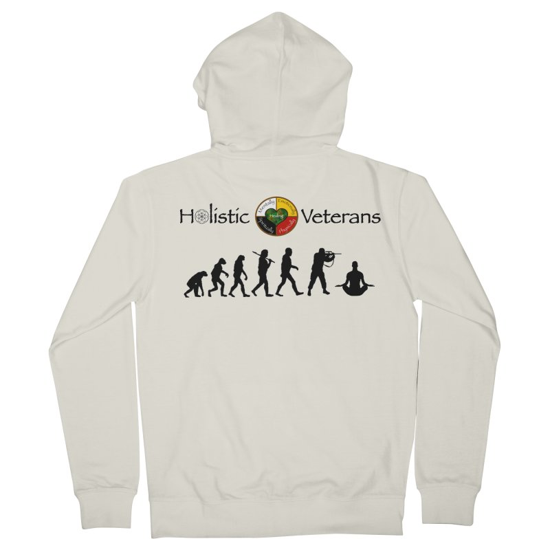 HV Logo Women's French Terry Zip-Up Hoody by HolisticVeterans Store