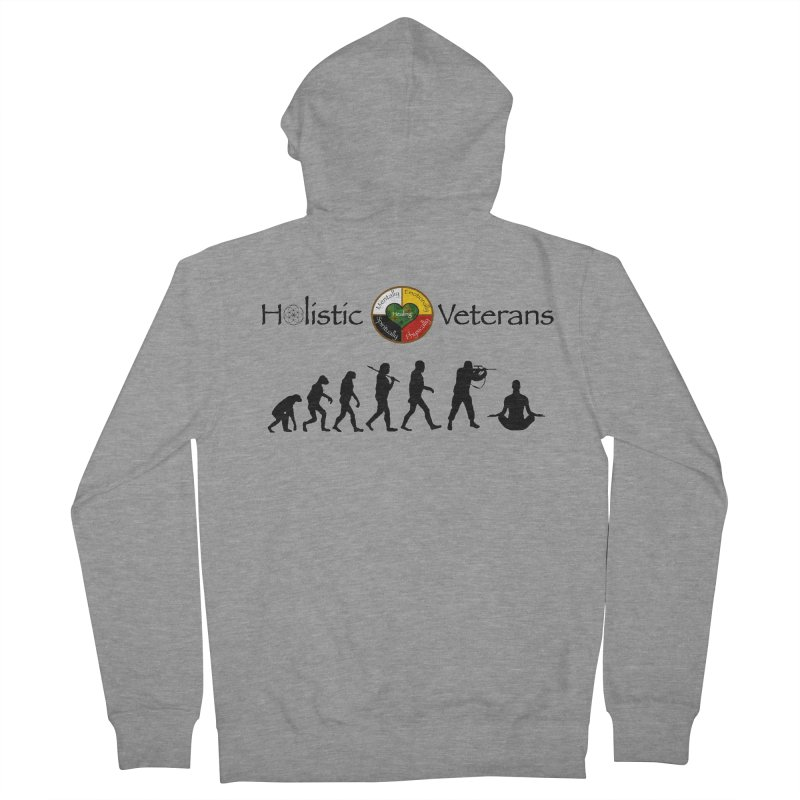 HV Logo Men's French Terry Zip-Up Hoody by HolisticVeterans Store