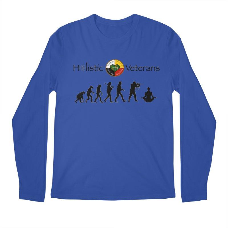 HV Logo Men's Regular Longsleeve T-Shirt by HolisticVeterans Store