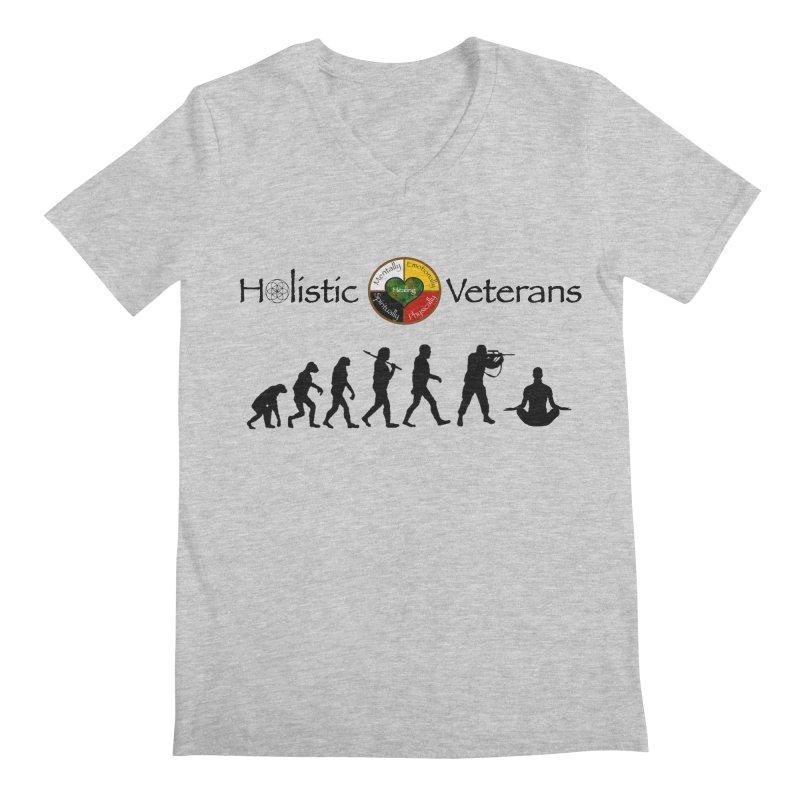HV Logo Men's Regular V-Neck by HolisticVeterans Store
