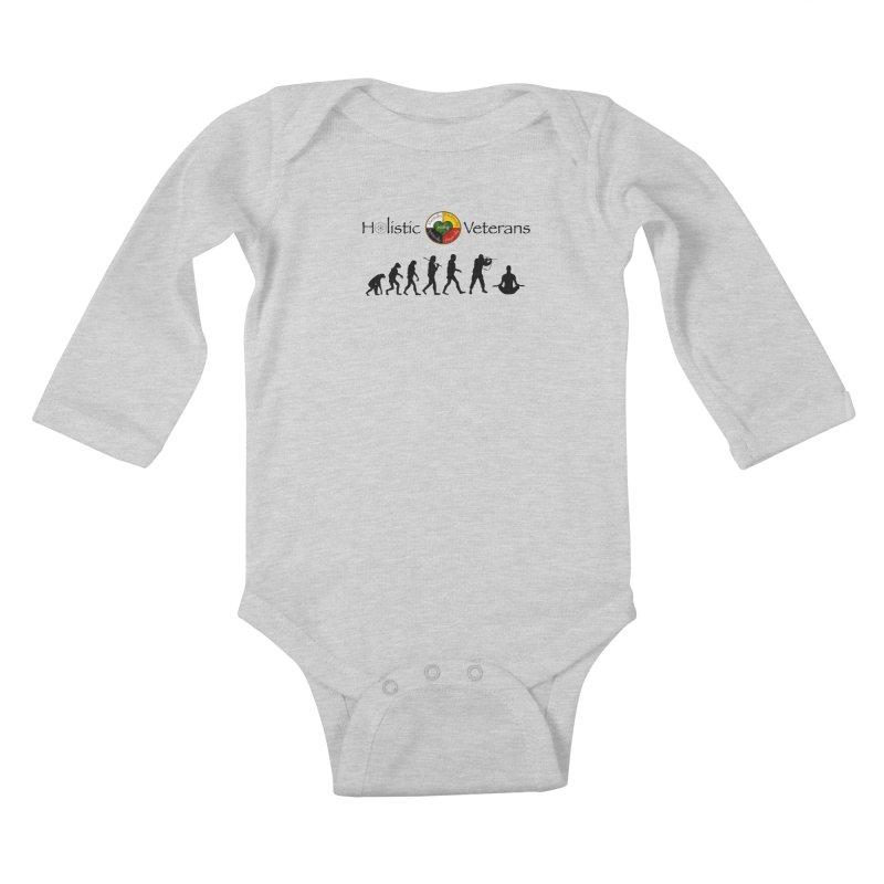 HV Logo Kids Baby Longsleeve Bodysuit by HolisticVeterans Store