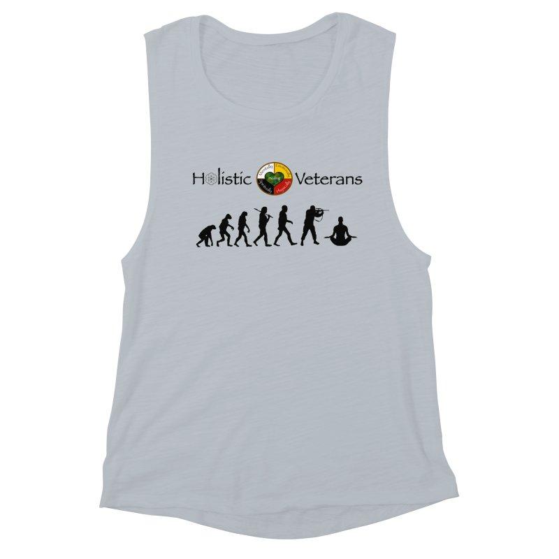 HV Logo Women's Muscle Tank by HolisticVeterans Store