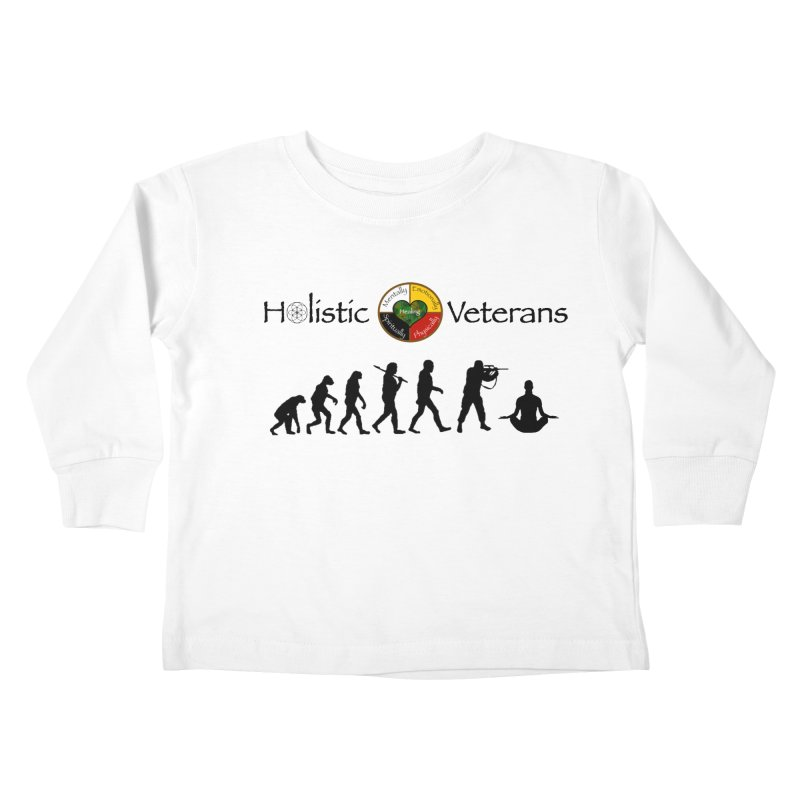 HV Logo Kids Toddler Longsleeve T-Shirt by HolisticVeterans Store