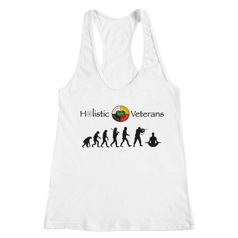 HV Logo Women's Racerback Tank by HolisticVeterans Store
